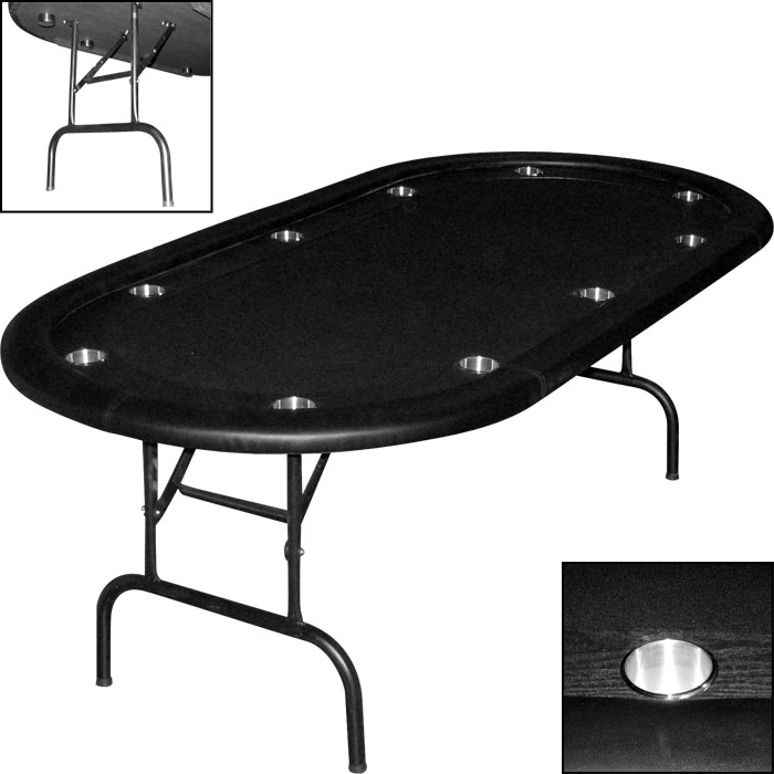 Be Prepared For An Impromptu Poker Game With The Sportcraft Folding Poker  Table Top. It Turns Any Square Or Round Table Into A Proper Playing  Surface, ...