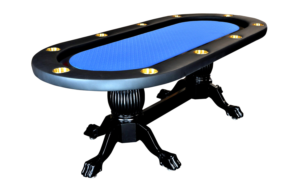 ... The Elite Poker Table With Blue Speed Cloth