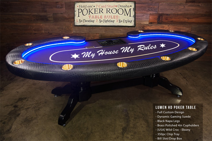 The Texas Poker Store Customized Lumen Poker Table ...